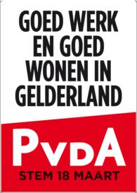 PosterPvdA Gelderland
